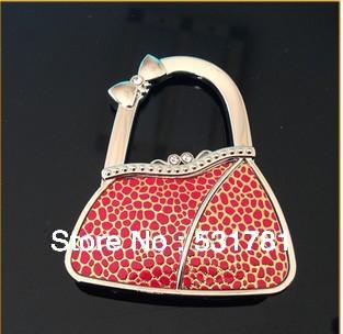 FREE Shipping ! 2014 Newest stylish crective jewelry bag hanger handbag folding purse hanger for women's birthday gifts bulk()