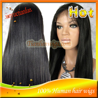 Free Shipping Straight Front Lace Wigs / Full Lace Wigs Brazilian Human Hair Natural Hairline For Black Women IN STOCK!!