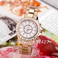 TJ-014 High Quality WeiQin Brand 2013 New Women Quartz Watches Luxury Full Imitation Diamond Dress Watches--free shipping