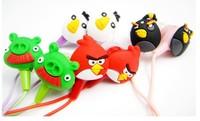 Free Shipping, 3.5mm Newly cute Cartoon BIRDS Earphone Headphone in-ear earphone 300pcs/lot