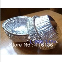 Size 5.8CMx1.5CM 50% discount! 1250pcs/Lot egg tart aluminum paper cups Bear high temp/ Cupcake Cake liners cup muffin case