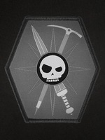 Oyo praetorian tad patch jun zhang size of the sword pickaxe grey