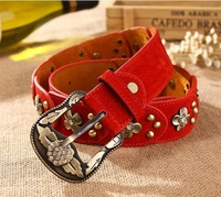 2014 Fashion Rivet Rhinestone Vintage Strap Women's Belt,New Designer All-match Casual Genuine Leather Pigskin Belt,Freeshipping