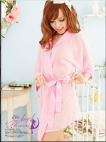 Japanese style bathrobe sexy underwear the temptation bathrobe set tender soft screen kimono-style 2018