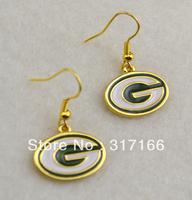 Free shipping green bay packers 18k earring