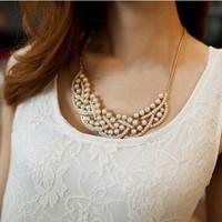Free Shipping Princess ol elegant  simulated-pearl short design necklace collar female