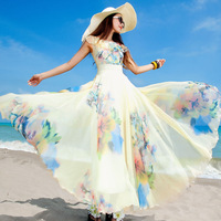 3ag Skirt  2014 spring and summer print one-piece  bohemia qcl374-6 expansion bottom  dress