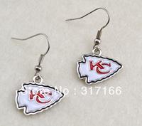 Free shipping enamel Enamel Kansas City Chiefs sport earrings