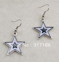 Free shipping enamel Dallas Cowboys earring