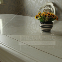 Soft glass table cloth transparent tablecloth table mat waterproof disposable dining table cloth rose crystal plate pvc
