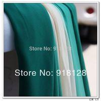 Teal green white gradient chiffon hanfu silk scarf elegant dress chiffon fabric