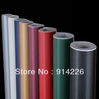 "Accessories car covers stickers 3D Carbon Fiber Vinyl Twill Weave Sheet 12""x50"" /31cmx127cm white"
