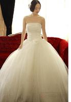 Slim princess boutique wedding formal dress new arrival 2013 tube top 2014