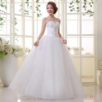 Boutique wedding formal dress lyg wedding bandage lacing wedding dress slim tube top princess