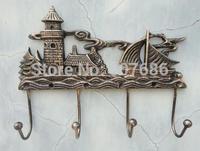 2 Piece Rural Antique Cast Iron Decorative Hose Wall Hooks Key Rack Holder Retro Home Yard Garden Kitchen Decor Free Shipping