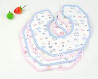 Top quality pure cotton & Waterproof baby Bibs & Burp Cloths !Wholesale(200pcs/lot)+freeshipping