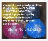 Top High quality color toner powder compatible Konica Minolta C224 C284 C364 C554 C654 C754 KCMY 4KG PER LOT