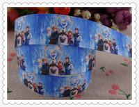"2014 new arrival 7/8"" (22mm) frozen princess printed grosgrain ribbon cartoon ribbons hair accessories 10 yards wq2824"