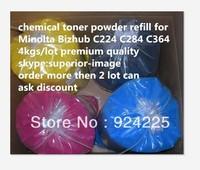 Top Hot selling Compatible Konica Minolta Bizhub C224 C284 C364 chemical color toner powder (KCMY)