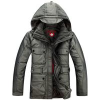 2013 men's thickening coat medium-long down removable liner down coat yasmaks down coat