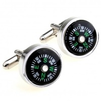 High quality compass cufflinks nail sleeve shirt sleeve button cuff