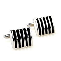 Male French business formal shirt sleeve quality stainless steel enamel married black cufflinks buttons