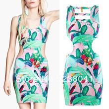 floral cut out dress promotion