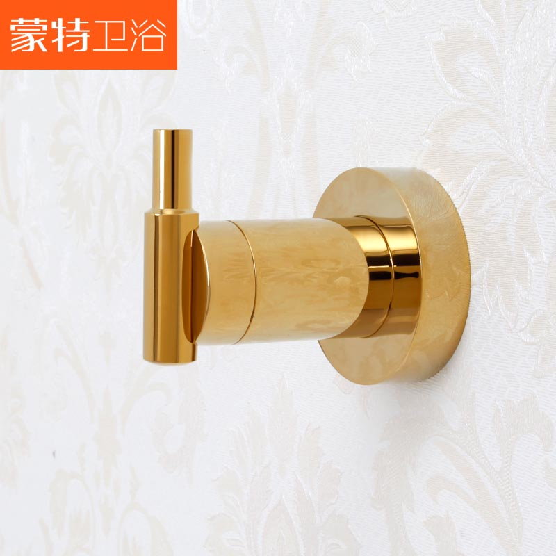 Free shipping Fashion noble munte bathroom accessories hook for hanging clothes copper gold plated hardware mt9902a(China (Mainland))