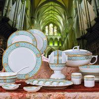 58 fashion bone china tableware ceramics dishes plate quality cutlery