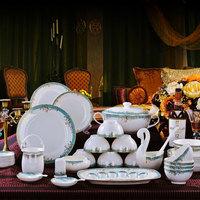 Fashion dinnerware set 58 guzhici luxury tableware dishes dish quality set