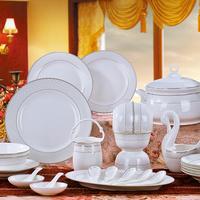 Bone china dinnerware set chinese style 56 wedding gift quality dishes set