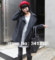 2014 desiged winter Women's woolen coat overcoat/fashion Ladies' surcoat cloak coat/good quality warm topcoat/WTL