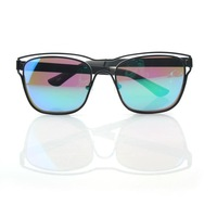 Kasuri colorful personality than reflective sunglasses trend in Europe and America hollow glasses women sunglasses / oculos