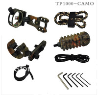 a set camouflage compound bow archery upgrade combo bow accessory kit with bow sight stabilizer sling arrow rest and peep sight