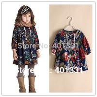 New Arrival 2014Spring girl's Blouse, European and American style children t shirt, girls flower t shirt, designer kids clothing