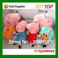 Peppa Pig Toys Pepa Pig Family Plush Toys Doll Daddy Mummy George Pepper Pig Boneca Pelucia Brinquedos Baby Toy,22&30cm 4PCS/SET