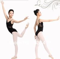Classical black back mesh design women professional ballet dance wear leotards gymnastic leotard free shipping