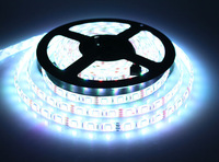 dc 12v 14.4w 60led/m 5m 300 smd rgb led strip 5050 waterproof ip65 flexible strip light,white pcb 5050 rgb led strip