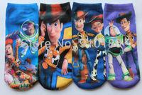 12pairs/lot kids cartoon Buzz lightyear cotton socks children cartoon socks boys and girls cartoon socks