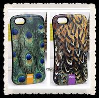 10colors for iphone 4 4s novelty luxury EMBOSSING animal skin leopard snake peafowl zebra hybrid hard back shell case