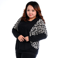 Fashion women 2014 clothes plus size hoodies fat women big size  pullover Sweatshirts XXXL XXXXL winter batwing-sleeved blouse