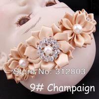 2014 item - Champaigne  Baby Girl Hair Band Infant Toddler Flower Headband Headwear, kids Hair Accessory