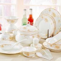 Quality 56 dinnerware set bone china bowls rich quality gift tableware