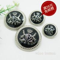 needlework Button buttons silveriness masout pure metal button blazer overcoat button 15-25mm  handicraft material