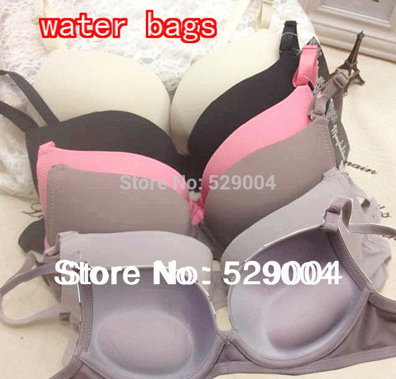 Fashion Magic Massage Water bag Pads Bras Strapless underwear Sexy Push Up Full Size Lingerie Brassiere For Women B/C Bra(China (Mainland))