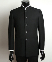 Seven 2013 men's autumn and winter clothing casual outerwear suits stand collar slim chinese tunic suit