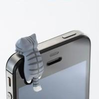2014 Universal mobile phone dustproof plug cheese cat kitten design dust plug dust-proof plug 6 designs 2x1cm free shipping
