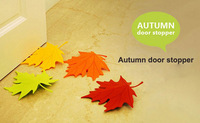 Free Shipping Novelty Autumn Maple Leaf Door Stopper/Door Stops Home Decoration 2pcs/lot