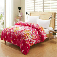 Home textile bedding super soft velvet thickening thermal FL duvet cover coral fleece quilt cover single double