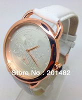 Free Shipping-2013 New Luxury Fashion Women's Leather H Watch Quartz Lady Wrist Watches 8 Color Available